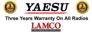 Yaesu 3 Yr Warranty