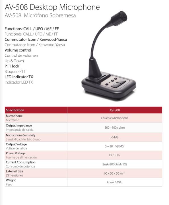 Komunica AV-508 Desktop Microphone