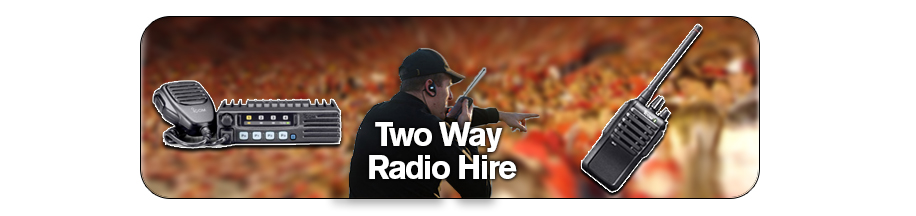 2 Way Radio Hire Banner
