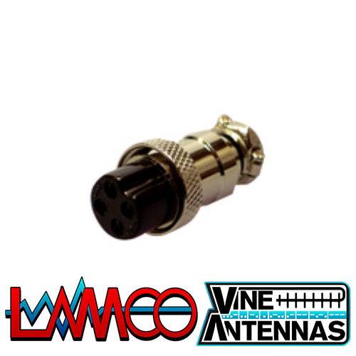 4-Pin-Microphone-Plug-Female supplied by LAMCO Barnsley my favourite HAM store in the world 5 Doncaster Road Barnsley S70 1TH