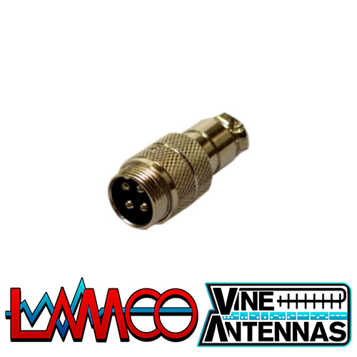 4-Pin-Microphone-Socket supplied by LAMCO Barnsley my favourite HAM store in the world 5 Doncaster Road Barnsley S70 1TH