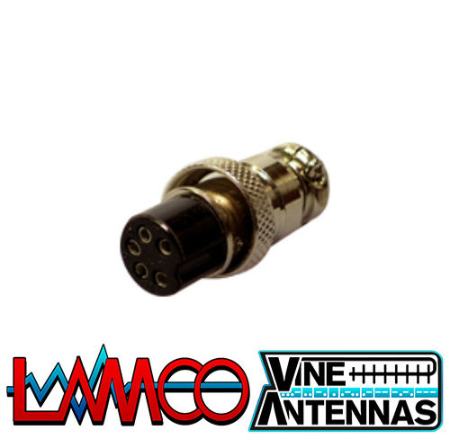 5-Pin-Microphone-Plug-Female supplied by LAMCO Barnsley my favourite HAM store in the world 5 Doncaster Road Barnsley S70 1TH