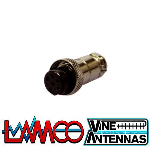6-Pin-Microphone-Plug-Female supplied by LAMCO Barnsley my favourite HAM store in the world 5 Doncaster Road Barnsley S70 1TH