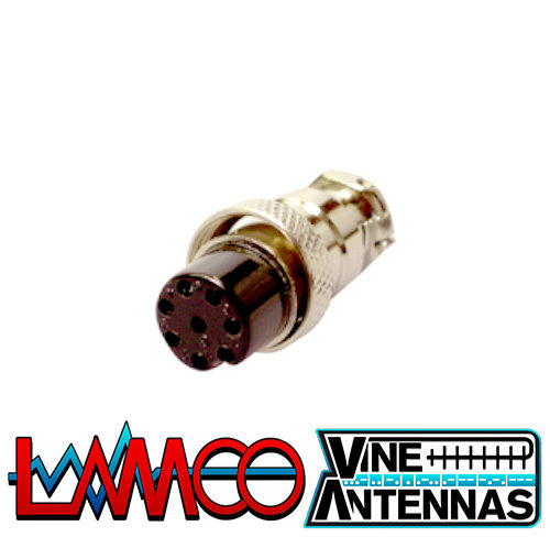 8-Pin-Mic-Plug-Female supplied by LAMCO Barnsley my favourite HAM store in the world 5 Doncaster Road Barnsley S70 1TH