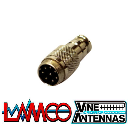8-Pin-Mic-Socket supplied by LAMCO Barnsley my favourite HAM store in the world 5 Doncaster Road Barnsley S70 1TH
