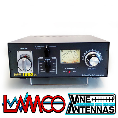 DU-1500L Vine Antennas supplied by LAMCO Barnsley my favourite HAM store in the world 5 Doncaster Road Barnsley S70 1TH