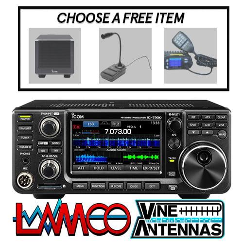 ICOM IC-7300 | HF/50/70MHz Transceiver (Inc. Free Item + Shack Mat) | LAMCO Barnsley