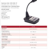 Komunica AV-508 Desk Top Microphone