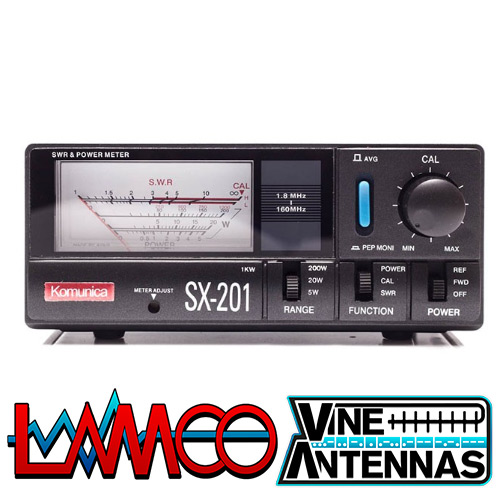 Komunica SX 201 | HF VHF SWR Power Meter | LAMCO Barnsley