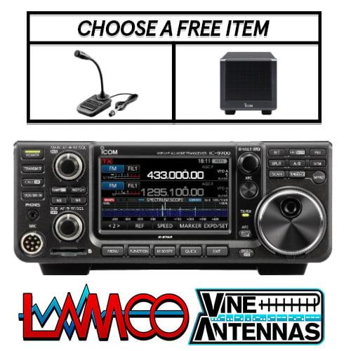 ICOM IC-9700 | VHF/UHF/SHF D-STAR Transceiver (Inc. Free Item + Shack Mat) | LAMCO Barnsley