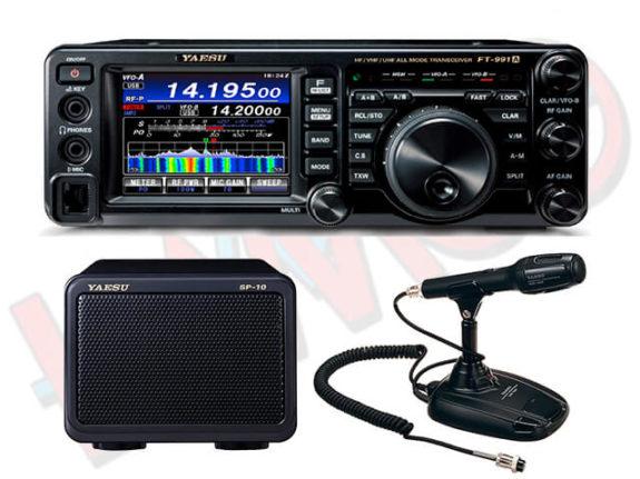 Yaesu FT-991a combo deal Yaesu SP-10 extension speaker Yaesu MD-100A8X desk top microphone