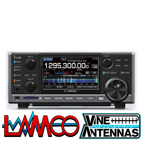 R8600 ICOM Uniden supplied by LAMCO Barnsley my favourite HAM store in the world 5 Doncaster Road Barnsley S70 1TH