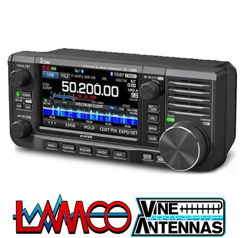 IC-705 BY ICOM UK New Transceiver portable from, LAMCO Barnsley 5 Doncaster Road Barnsley