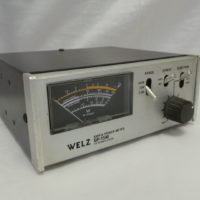 The SP-45M features three power ranges of 3-Watts, 20-Watts, and 100-Watts. Input and output connectors are standard SO-239s.