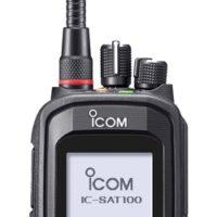 IC-SAT100 utilises SATELLITE PTT (Push-To-Talk)