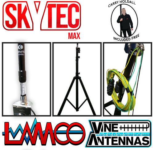 SkyTec MAX Vine Antennas supplied by LAMCO Barnsley my favourite HAM store in the world 5 Doncaster Road Barnsley S70 1TH