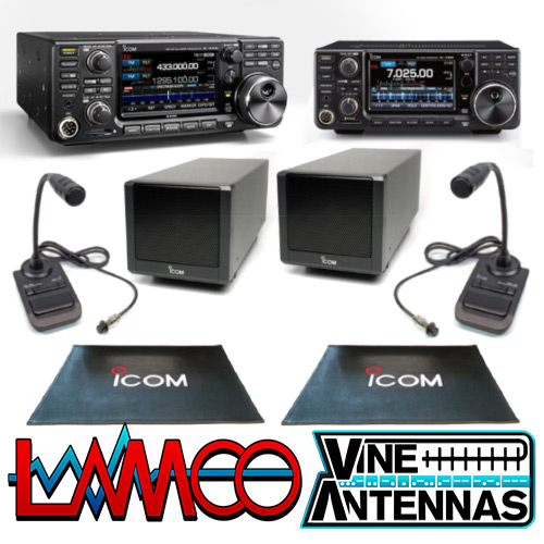 LAMCO Mega Deal Icom IC-9700 + IC-7300 + 2 x SP-38 + 2 x SM-30 + 2 x Shack Mats LAMCO Barnsley