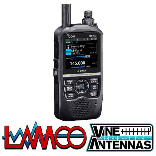 ICOM ID-52E | VHF/UHF D*STAR Handheld Transceiver | LAMCO Barnsley