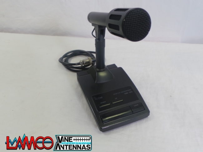 ICOM SM-20 Desktop Microphone USED | 12 Mths Wanty | LAMCO Barnsley